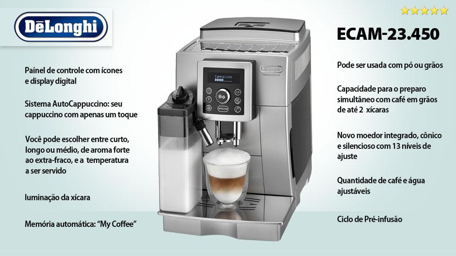 Cafeteira Automática Delonghi ECAM 23.450