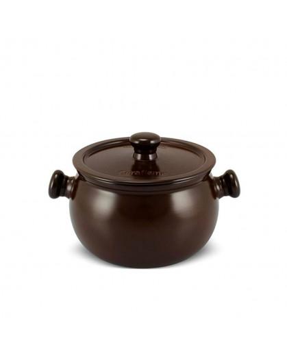 Caçarola Ceraflame Premiere+ 18cm 3,0 litros Chocolate