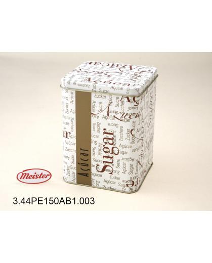 Embalagem de Metal Quadrada para Açúcar Meister Gourmet