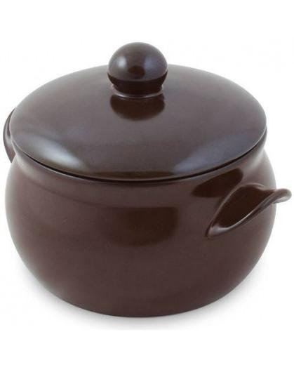 Caçarola Premiere Ceraflame 11cm 500ml Chocolate Com Tampa