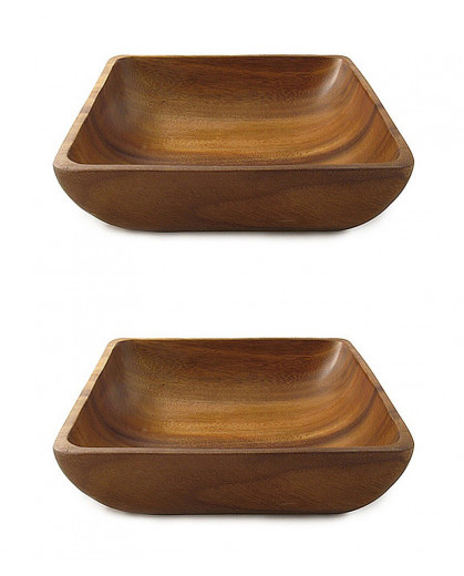 Petisqueira Tipo Bowl em Madeira Acácia