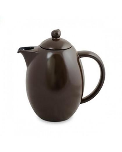 Bule Colonial Ceraflame Cerâmica Chocolate 1500ml