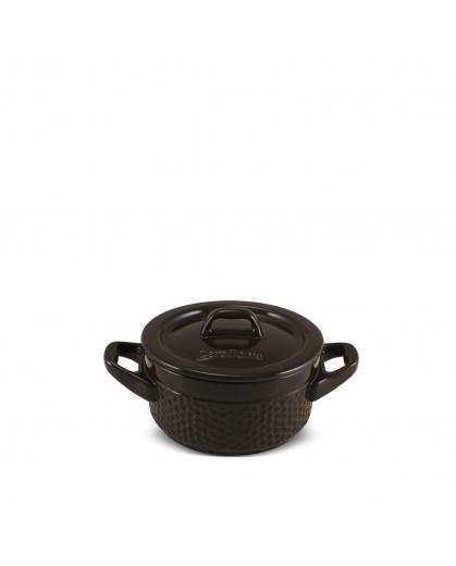 Caçarola Ceraflame de Cerâmica Martelada 11cm 300ml Chocolate