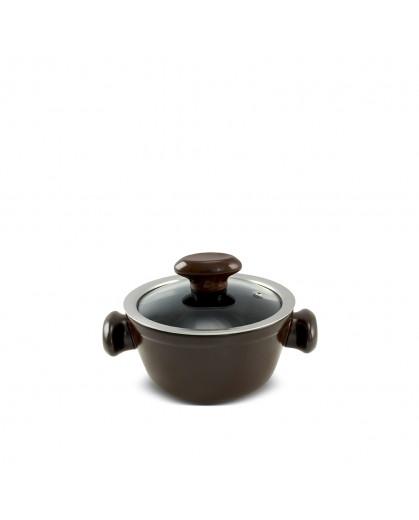 Caçarola Ceraflame de Cerâmica do Chef  14cm 700ml Chocolate