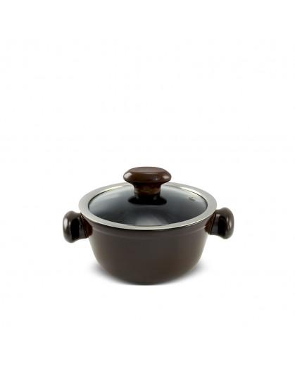 Caçarola Ceraflame de Cerâmica do Chef  16cm 1000ml Chocolate