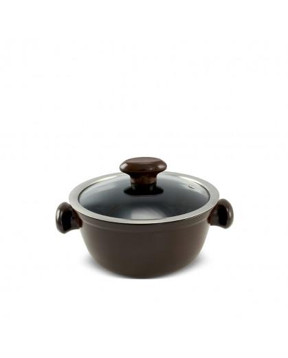 Caçarola Ceraflame de Cerâmica do Chef  18cm 1300ml Chocolate
