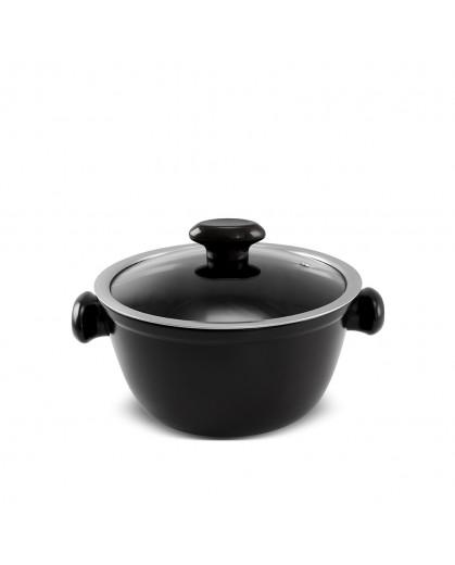 Caçarola Ceraflame de Cerâmica do Chef  20cm 2200ml Preto