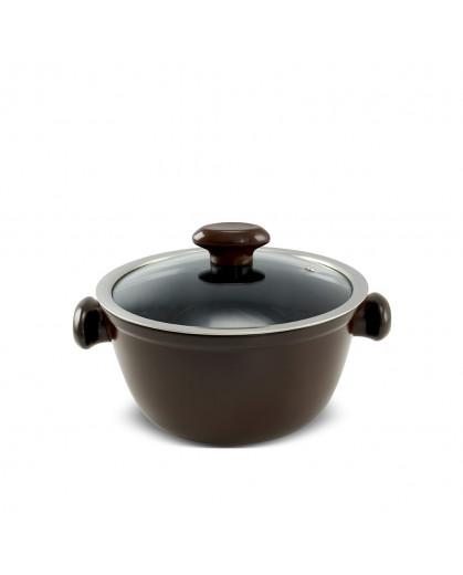 Caçarola Ceraflame de Cerâmica do Chef  20cm 2200ml Chocolate