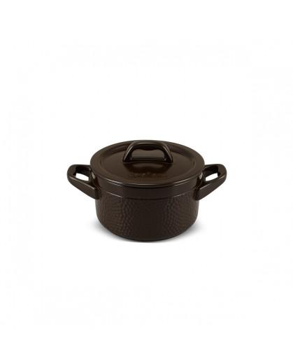 Caçarola de Cerâmica Ceraflame Martelada Chocolate 16cm