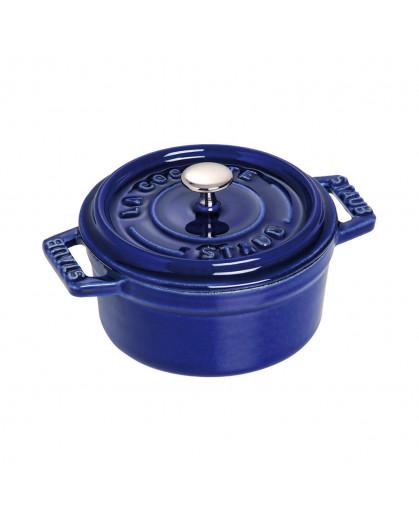 Caçarola Staub Redonda Ferro Fundido Azul Marinho 10cm