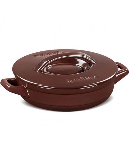 Caçarola Ceraflame Duo+ Buffet em Cerâmica  24cm 1,9 Litros Chocolate