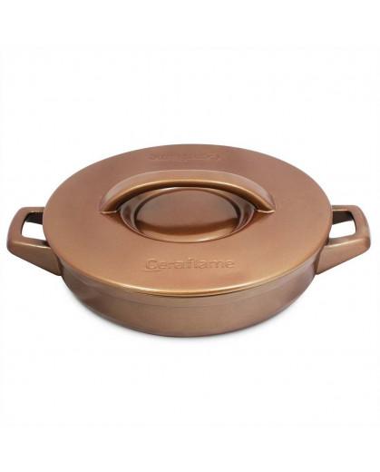 Caçarola Ceraflame Duo+ Buffet em Cerâmica   28cm 2,5 Litros Cobre