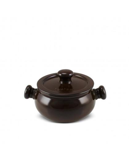 Caçarola Ceraflame Premiere+ Baixa 14cm 1,25 litros Chocolate