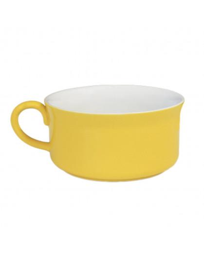Caneca para Sopa 350ml Amarela/Branca
