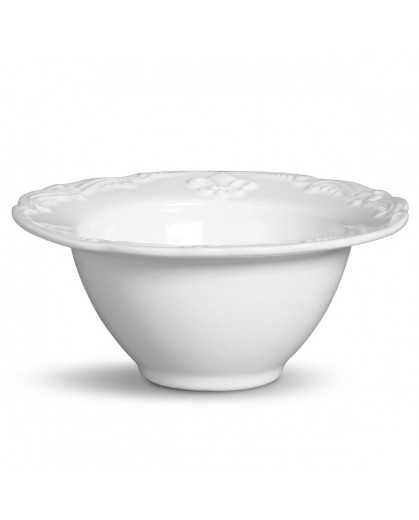 Conjunto de Bowls Flor de Lis Branco Porto Brasil 6 Peças