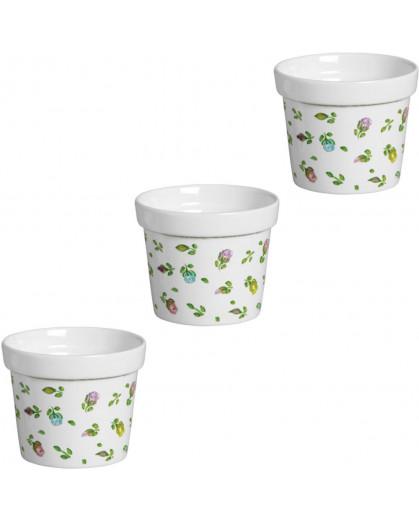 Conjunto de Vasos em Cerâmica Esmaltada 3 Peças