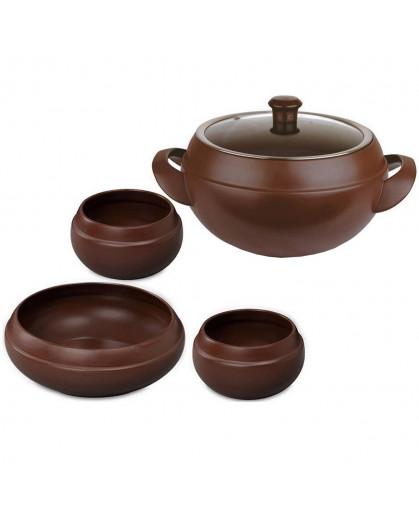 Conjunto Para Feijoada Ceraflame Chocolate em Cerâmica