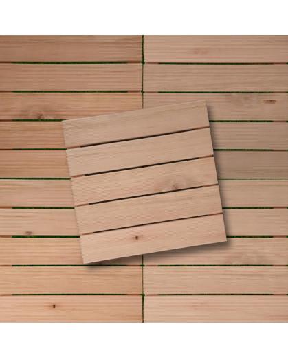 Conjunto de Decks de Madeira Maciça Eucalipto 50x50cm Mades 10 Peças