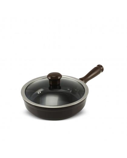 Frigideira Ceraflame Duo Com Tampa 20 cm 1,2 Litros Chocolate