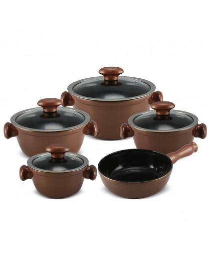Conjunto de Panelas Ceraflame Chef  em Cerâmica 5 Peças Cobre