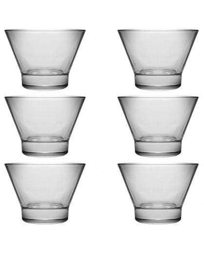 Jogo de Taça de Sobremesa Oval de Vidro Libbey Chilly 6 Peças