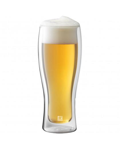 Jogo com 2 copos de vidro de parede dupla para Cerveja, 414 ml, Sorrento Bar