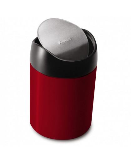 Lixeira Para Cozinha Simple Human Vermelha