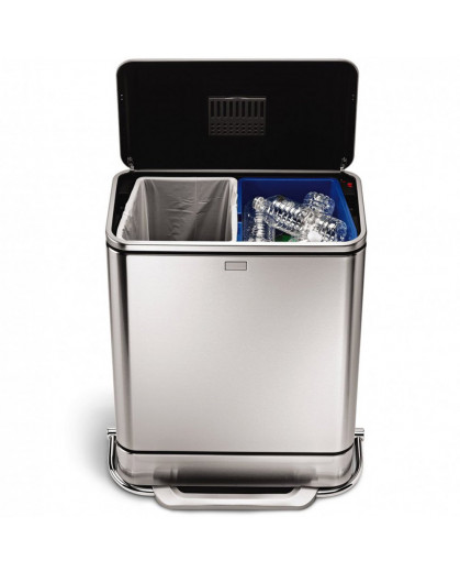 Lixeira Simplehuman Inox Recicladora 48 Litros