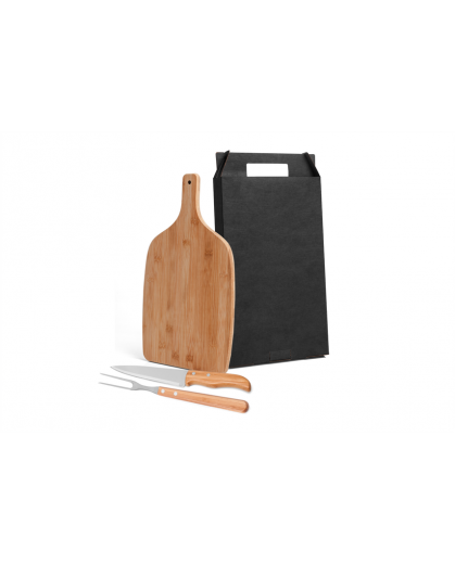 Conjunto para Cozinha em Bambu/Inox - 3 Peças