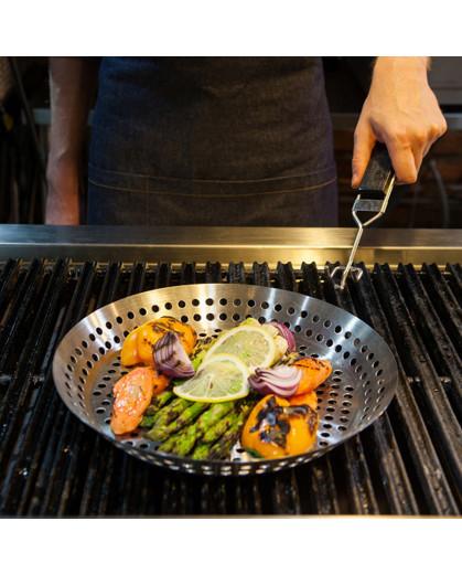 Panela para grelhar na churrasqueira 30 cm  Prana