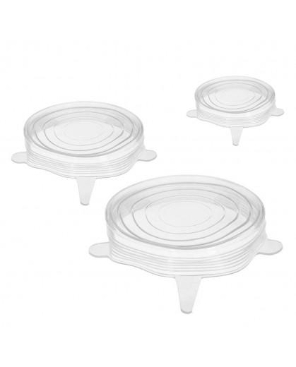 Conjunto Com 3 Tampas Herméticas de Silicone Reguláveis - Prana