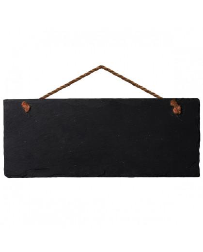 Placa de Avisos em Pedra Negra VAIK ® 30X10cm