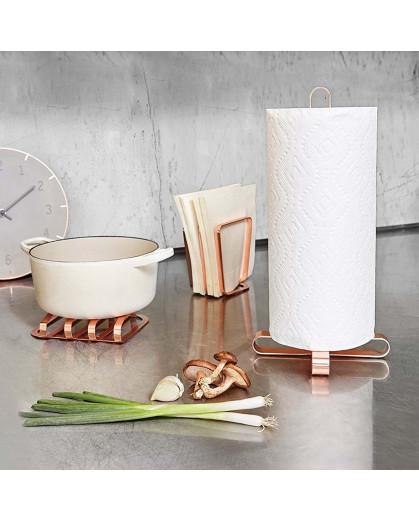 Porta Papel Toalha Para Cozinha Pulse Umbra em Metal 33cm