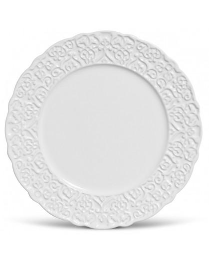 Prato Raso Marrakech Porto Brasil Branco 27cm 6 Peças