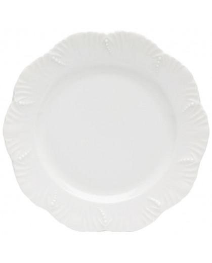 Prato Raso Royal Limoges Ocean Porcelana Branca 26,5cm 1 Peça