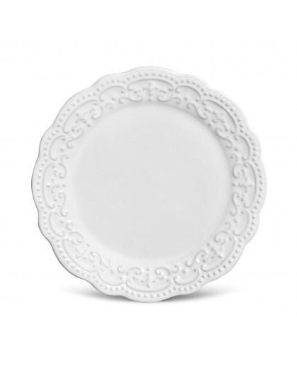Prato de Sobremesa Passion Branco Porto Brasil 21cm 6 Peças