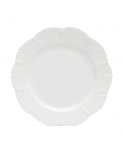Prato Sobremesa Royal Limoges Ocean Porcelana Branca 22cm 1 Peça
