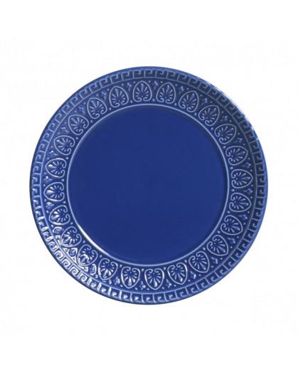 Prato de Sobremesa Greek Azul Navy Porto Brasil 6 Peças
