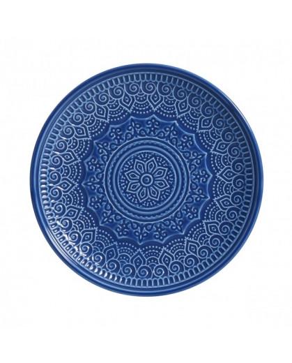 Prato Sobremesa Agra Azul Porto Brasil