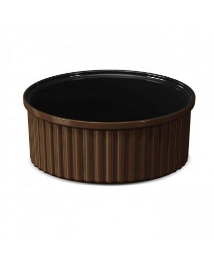 Forma para Suflê 1,6 L Ceraflame 8,5cmx21cmx21cm Chocolate