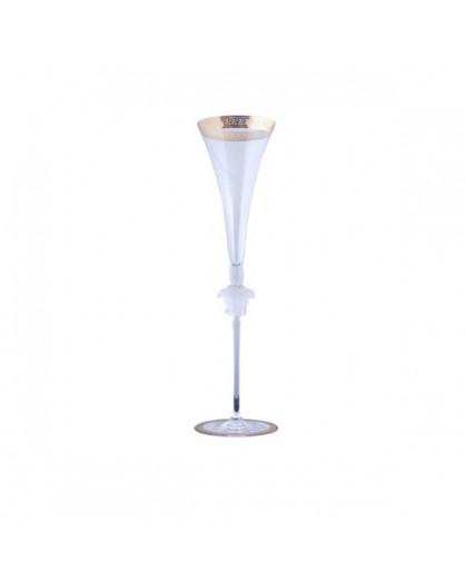 Taça para Champagne Medusa Versace Dourada