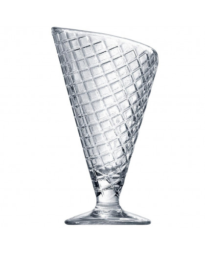 Taça de Vidro Para Sorvete Tipo Casquinha Bormioli Rocco Gelato 16x10cm