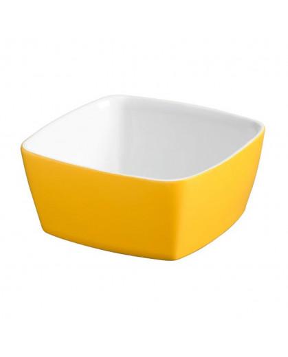 Tigela Quadrada 10 x 10cm Amarelo