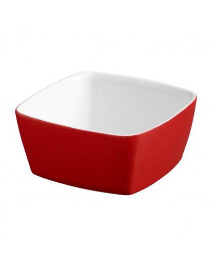 Tigela Quadrada 10 x 10cm Vermelho