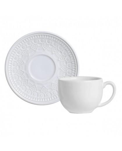 Xícara de Chá Agra Branco Porto Brasil