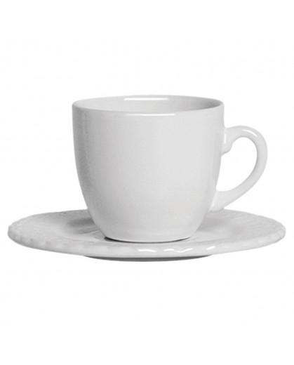 Conjunto de Xícaras de Chá com Pires em Cerâmica Scalla Nobre 6pçs