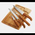 Conjunto para Churrasco em Bambu/Inox Welf 5 Peças