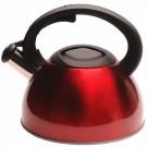 Chaleira Vermelha Kenya Inox 2,5 Litros 19,5cm x 20cm
