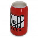 Copo Lata de Cerveja Duff Beer em Cerâmica Vermelha 330ml
