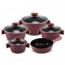 Conjunto de Panelas Ceraflame Chef  em Cerâmica 5 Peças Rose Gold